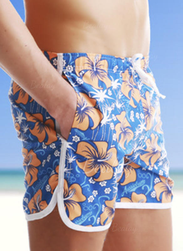 Pánské Květiny Barevný Plavat kufry Plavky
