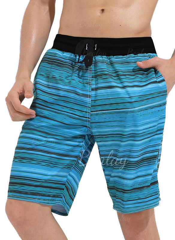 Menn Stripe Stort shorts Badedrakt