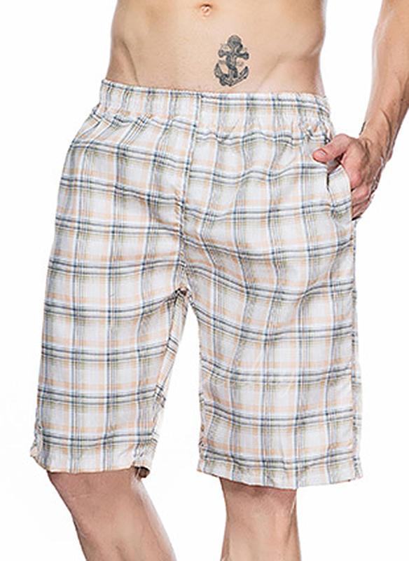 A bărbaţilor Grilă Imprimeu Pantaloni scurți Costum de Baie