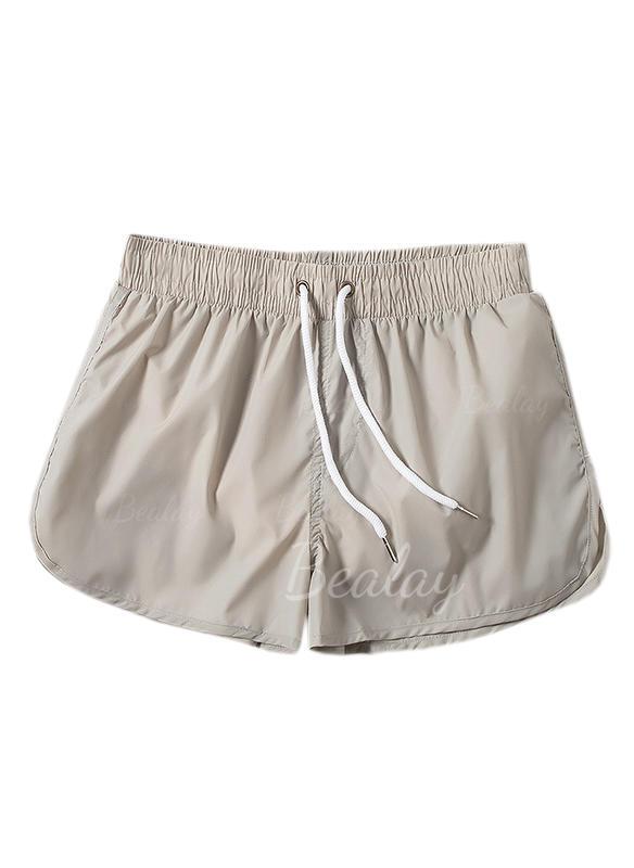 653ee1e01e Men's Solid Color Lined Swim Trunks (1029258834) - Men's Swimsuits ...