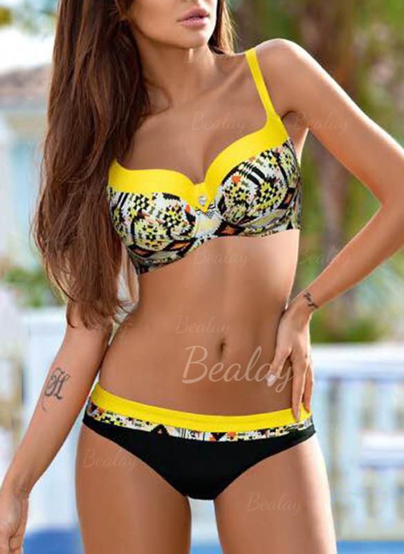2bffebaa5e6 Underwire Push Up Strap V-neck Sexy Plus Size Bikinis Swimsuits ...