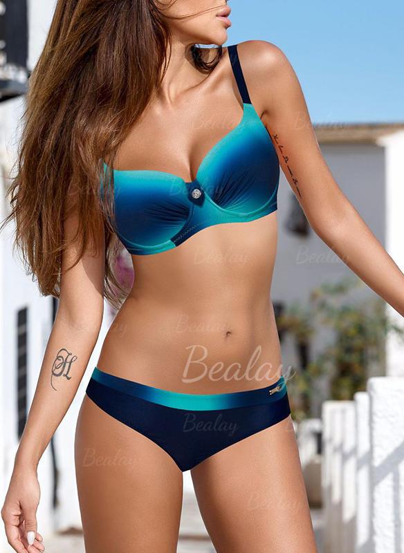 Lav talje Splice farve Strop Sexet Bikinier Badedragter