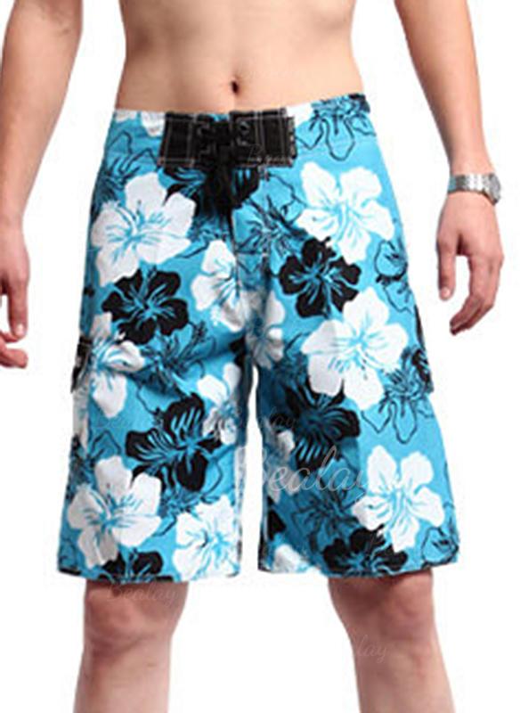Menn Blomster Stort shorts Badedrakt