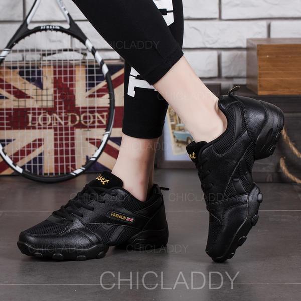 [US$ 25.99] Herren Sneakers Tanzschuhe Kunstleder Stoff mit Zuschnüren Tanzschuhe Chicladdy