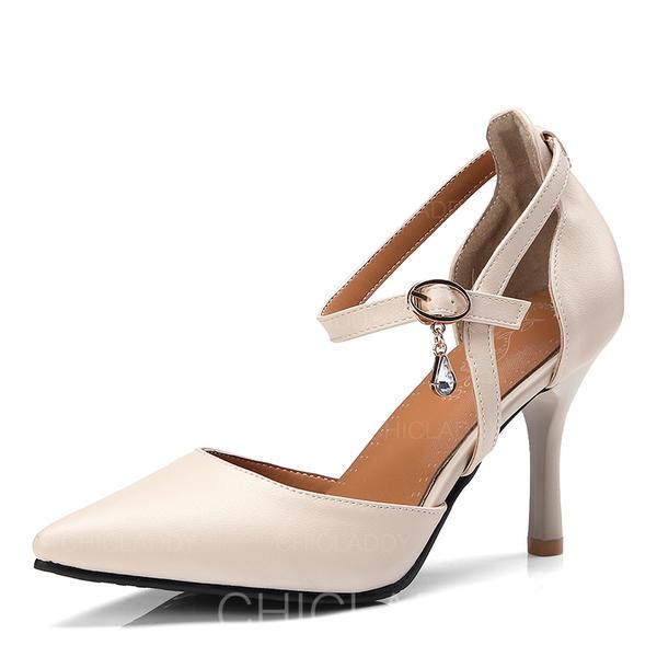 Dla kobiet PU Obcas Stiletto Czólenka Z Klamra Futro obuwie