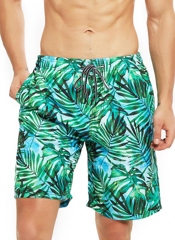 De Los Hombres Hojas Pantalones cortos