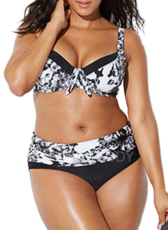 Colorato Ferretto Spinta verso l'alto Cinghia Elegante Taglia grossa Bikinis Costumi Da Bagno