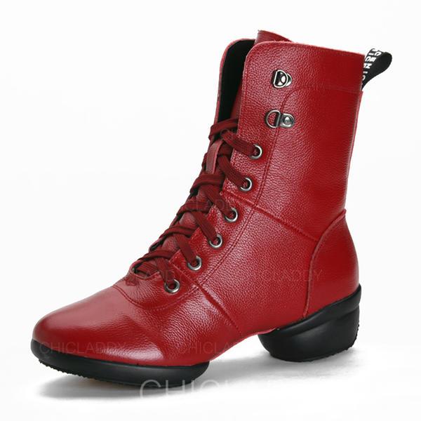 De mujer Estilo Moderno Zapatillas Sala de Baile Zapatillas Piel Estilo Moderno