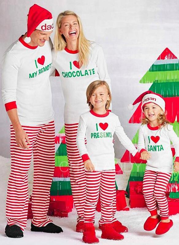Matching Christmas Pajamas.Us 17 99 Striped Family Matching Christmas Pajamas Chicladdy