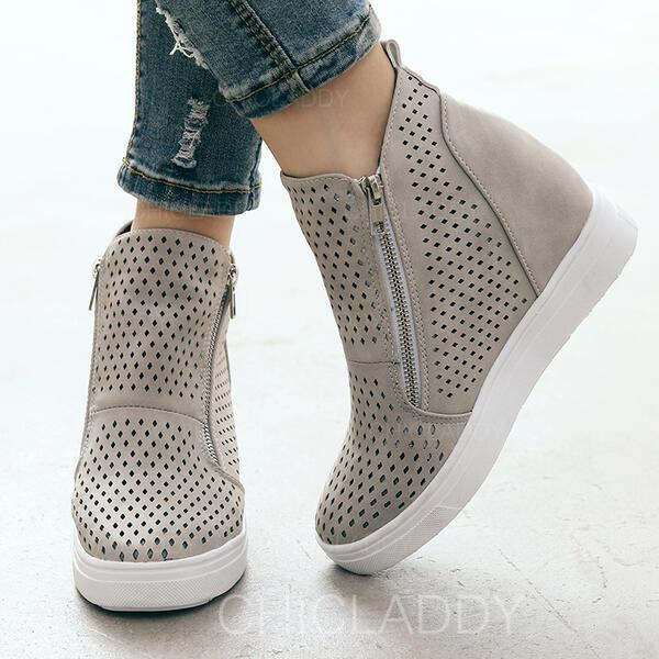 De mujer Cuero Casual con Cremallera Agujereado zapatos