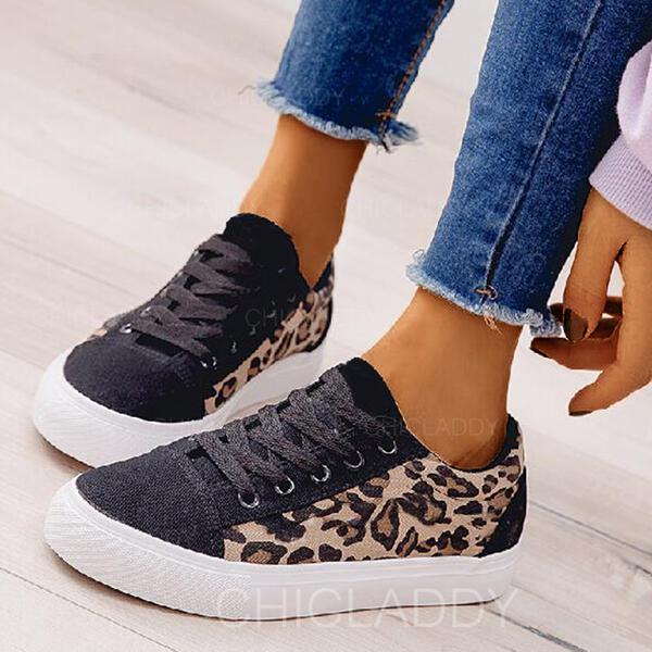De mujer Tejido Casual con Cordones Material Block zapatos