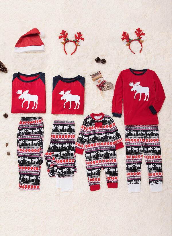 Matching Family Christmas Outfits.Us 12 99 Reindeer Family Matching Christmas Pajamas Chicladdy