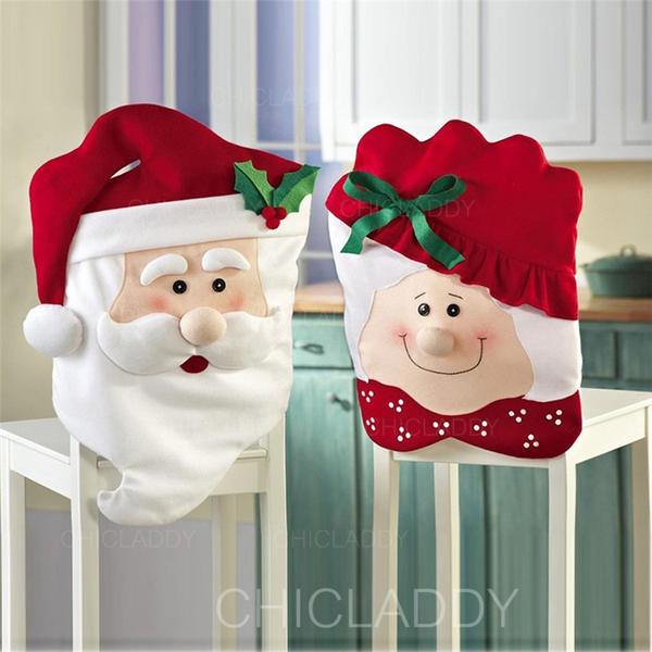 Merry Christmas Snowman Santa Cloth Chair Cover
