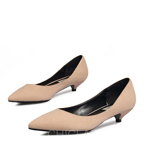 41ac9b81d258f Women's Suede Low Heel Pumps Closed Toe With Others shoes (085155284 ...