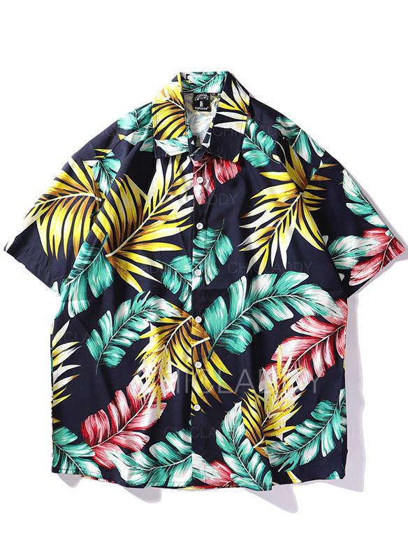 De Los Hombres Hojas hawaiano Playeras de playa