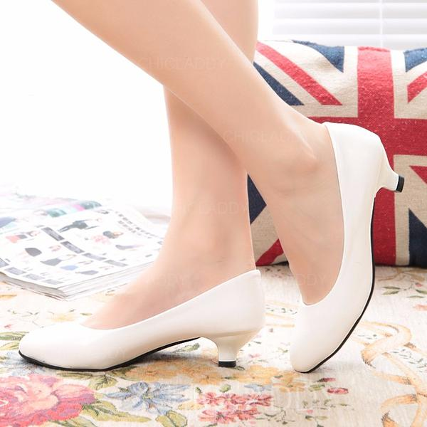Dla kobiet Skóra ekologiczna Niski Obcas Zakryte Palce obuwie