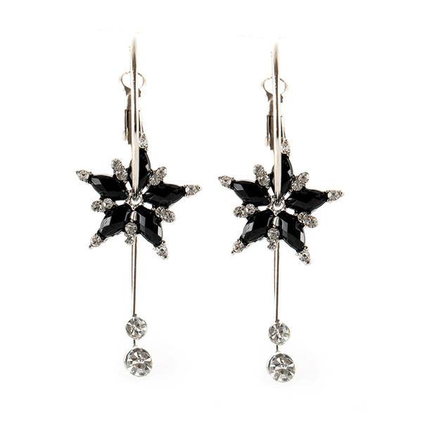 Us 5 99 Flower Shaped Alloy Resin Women S Earrings Chicladdy