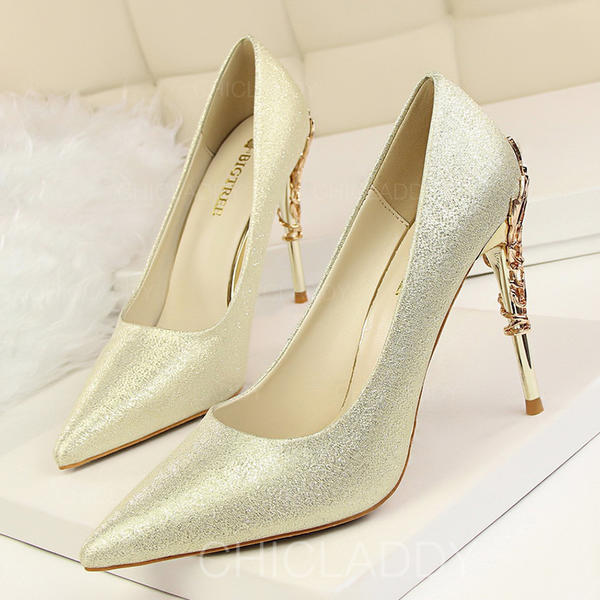 De mujer Satén Tacón stilettos Salón Cerrados con Tacones con joya zapatos