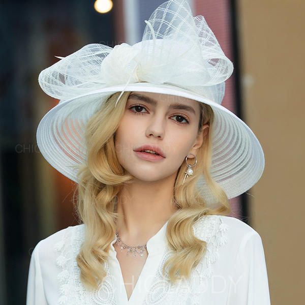 42044736d [US$ 35.99] Ladies' Exquisite/Fancy/Vintage Polyester With Tulle Floppy  Hats/Kentucky Derby Hats - Chicladdy