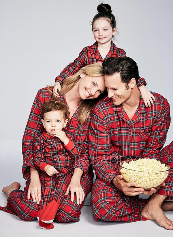 Family Christmas Pajamas.Us 15 99 Plaid Family Matching Christmas Pajamas Chicladdy
