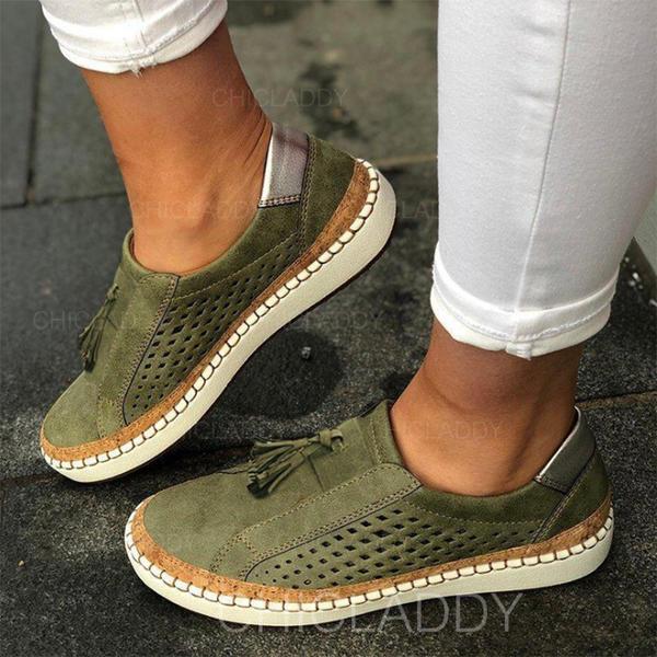 De mujer Cuero Tacón plano Planos con Otros zapatos