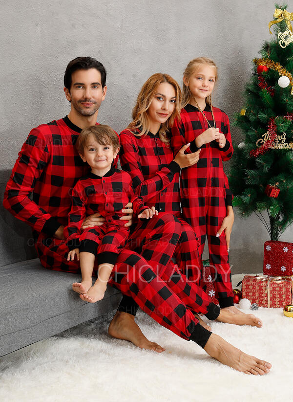 Tela Escocesa Familia a juego Pijamas De Navidad