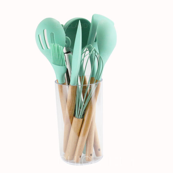 [US$ 24.99] Silicone Cooking Utensils (Set of 9) - Chicladdy