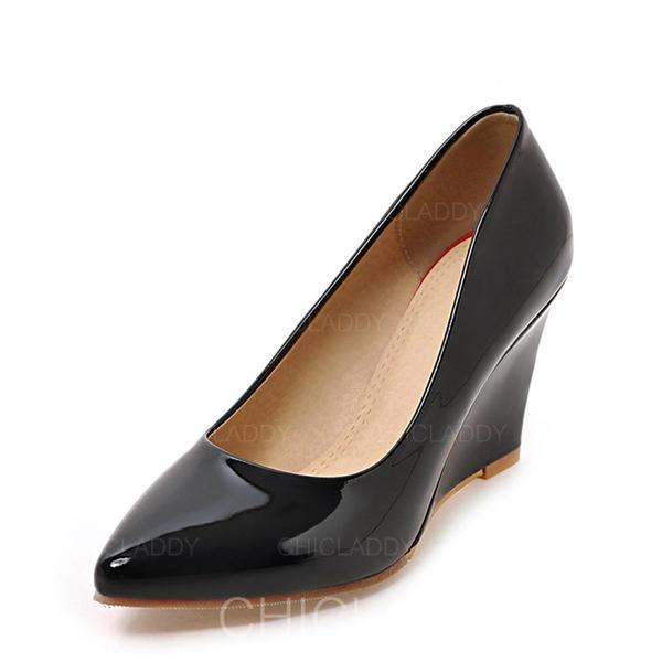 De mujer Piel brillante Tipo de tacón Cerrados Cuñas con Otros zapatos