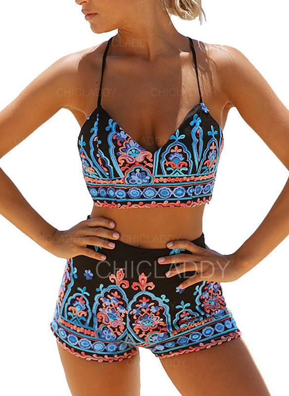 755212ce7b1b [US$ 22.99] Cadena Estampado tropical Correa Sexy Bikinis Trajes de baño -  Chicladdy