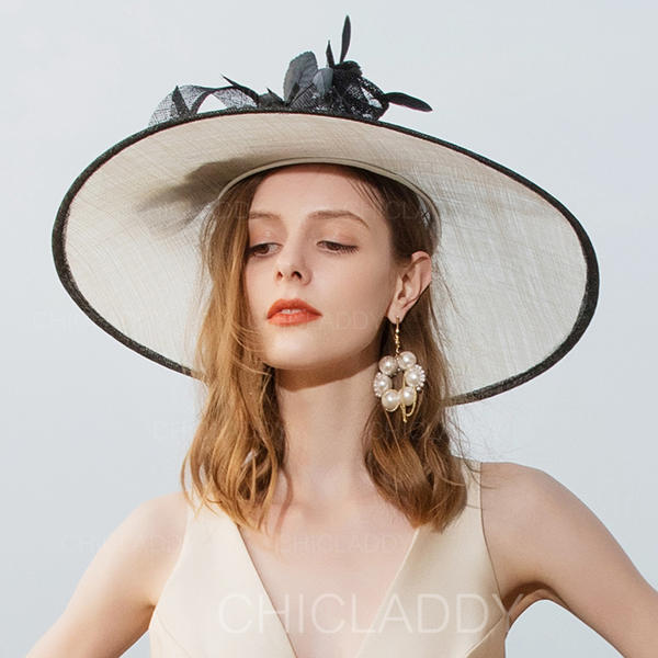 b3072ba94 [US$ 110.99] Ladies' Classic/Elegant/Amazing Cambric With Feather  Fascinators/Kentucky Derby Hats/Tea Party Hats - Chicladdy