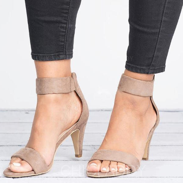 Dla kobiet Tkanina Niski Obcas Sandały Z Zamek błyskawiczny obuwie