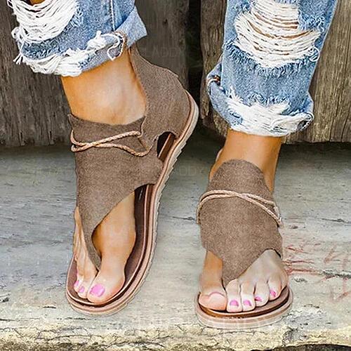 Bayanlar PU Düz topuk Sandalet Peep Toe Ile Fermuar ayakkabı