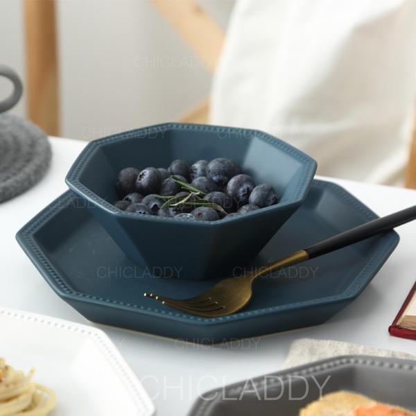 Contemporain Porcelaine Ensembles de vaisselle (lot De 2)