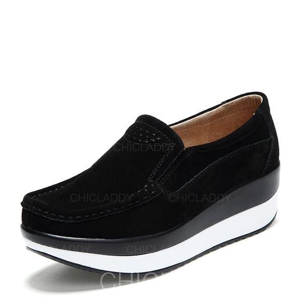 mejores telas buscar el más nuevo invicto x [US$ 26.99] De mujer Ante Tipo de tacón Plataforma Cerrados Cuñas zapatos -  Chicladdy