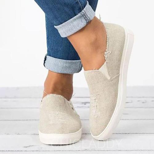 Femmes Toile Talon plat Chaussures plates avec Autres chaussures