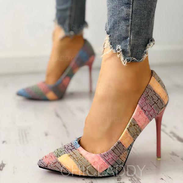 De mujer PU Tacón stilettos Cerrados con Otros zapatos