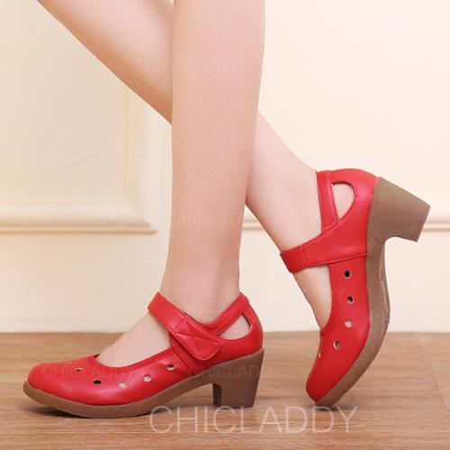 De mujer Zapatillas Planos Piel con Tira de tobillo Agujereado Entrenamiento
