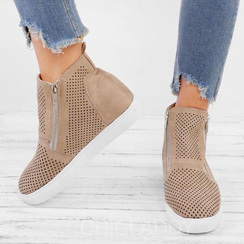 e0c8548d4 [US$ 34.99] Kvinner PU Kile Hæl Støvler med Hul ut sko - Chicladdy