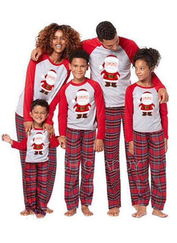 Santa claus Tela Escocesa Familia a juego Pijamas De Navidad
