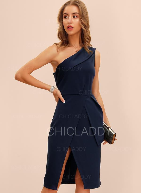 Solid Sleeveless Sheath Knee Length Party/Elegant Dresses