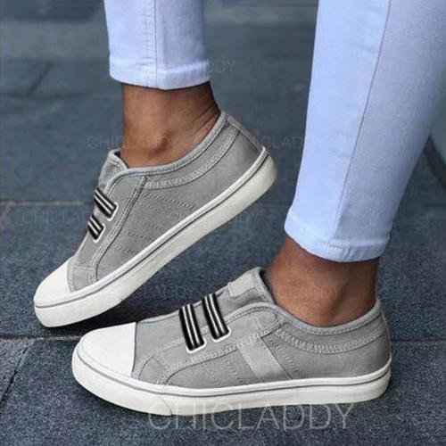 De mujer Lona Tacón plano Planos con Otros zapatos