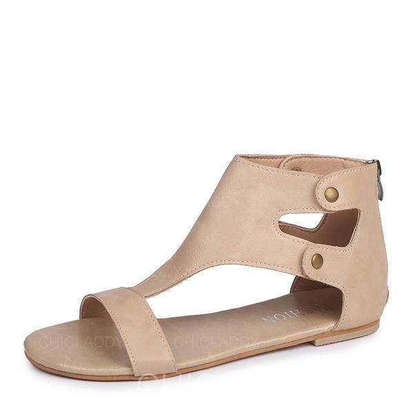 Vrouwen Kunstleer Flat Heel Sandalen Flats schoenen