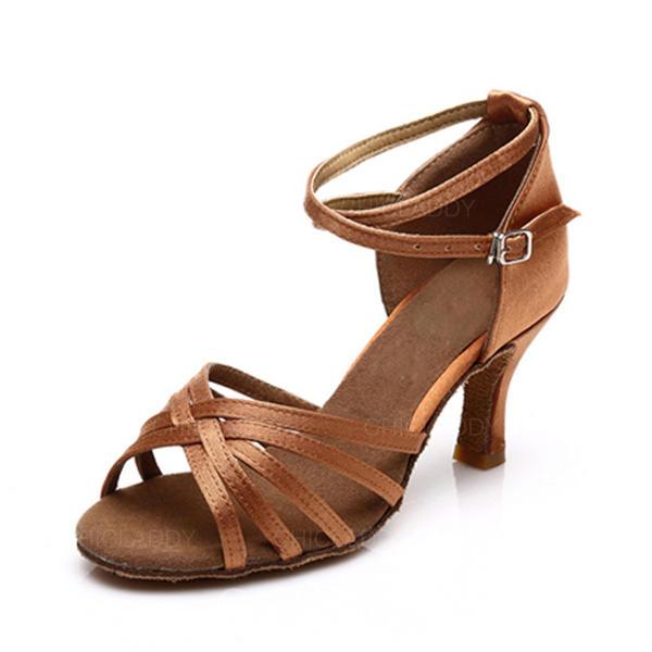 Donna Latino Sandalo Raso con Listino alla caviglia Latino