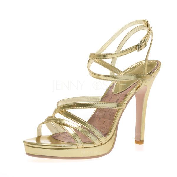 6872b46f402e Dámské Koženka Jehlový podpatek Sandály Platforma S otevřenou špičkou S  Přezka obuv