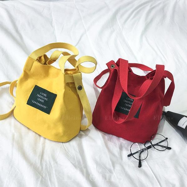 Commuting Canvas Shoulder Bags/Bucket Bags