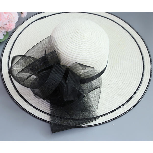 fffd9100e [US$ 13.99] Ladies' Special/Elegant/Fancy Raffia Straw With Imitation  Butterfly Beach/Sun Hats - Elleins