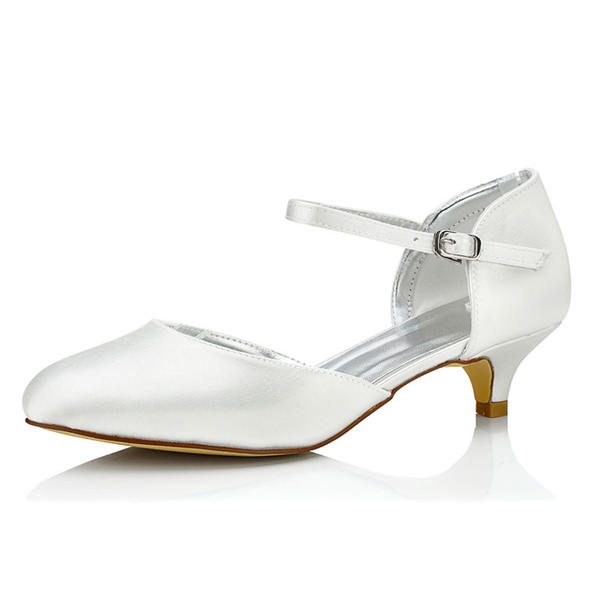12ef0554d07 Women s Satin Low Heel Pumps Dyeable Shoes (047090927) - Wedding ...