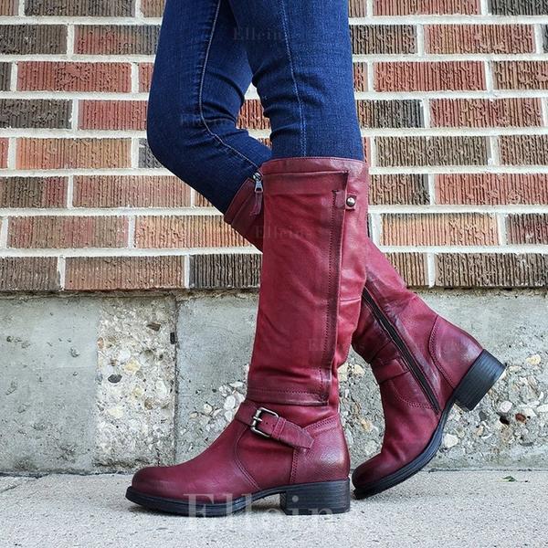 Pentru Femei PU Toc jos Cizme cu Cataramă pantofi