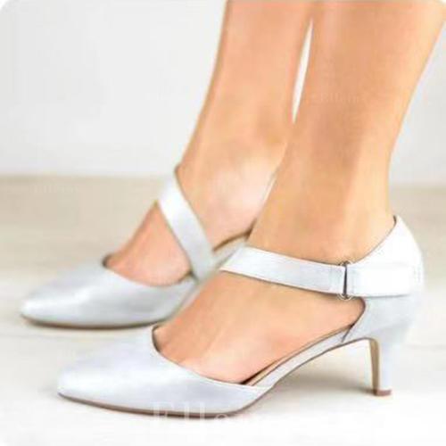 66e64b53efe De mujer PU Tacón bajo Sandalias con Velcro zapatos (085260599 ...