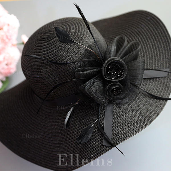 ad13f3b0b [US$ 13.99] Ladies' Elegant/Eye-catching/Fancy Raffia Straw With Feather  Straw Hats - Elleins